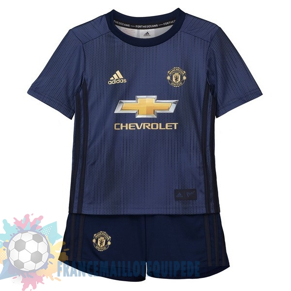 Magasin De Foot adidas Third Ensemble Enfant Manchester United 2018 2019 Bleu