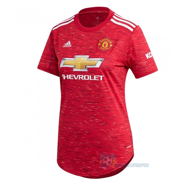 Magasin De Foot adidas Domicile Maillot Femme Manchester United 2020 2021 Rouge