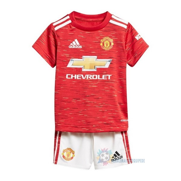Magasin De Foot adidas Domicile Conjunto De Enfant Manchester United 2020 2021 Rouge
