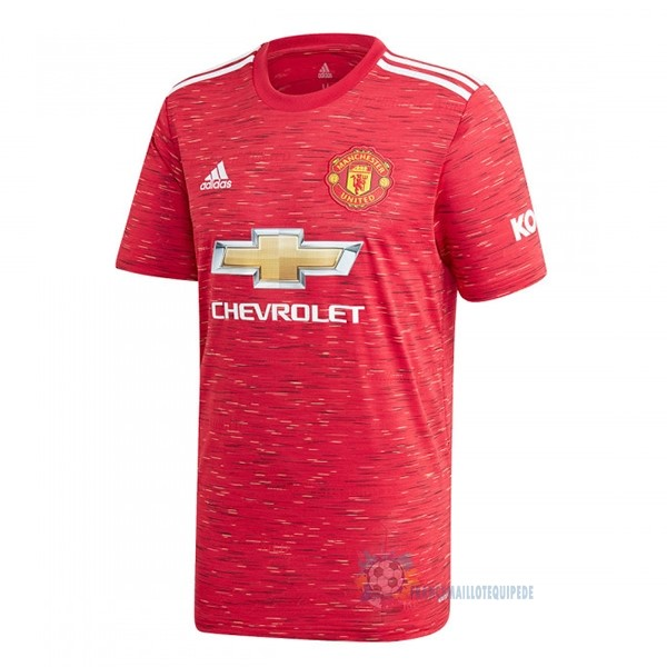 Magasin De Foot adidas Domicile Maillot Manchester United 2020 2021 Rouge