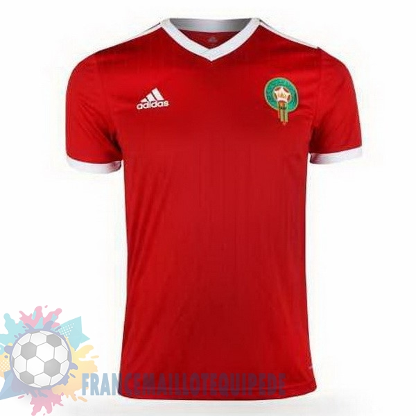 Magasin De Foot adidas Domicile Maillots Maroc 2018 Rouge