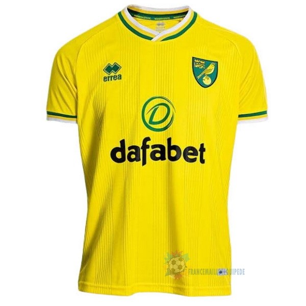 Magasin De Foot errea Domicile Maillot Norwich City 2020 2021 Jaune