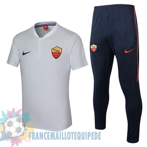 Magasin De Foot Nike Ensemble Polo As Roma 2017 2018 Blanc
