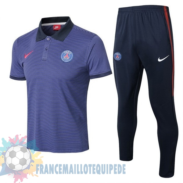 Magasin De Foot Nike Ensemble Polo Paris Saint Germain 2017 2018 Bleu