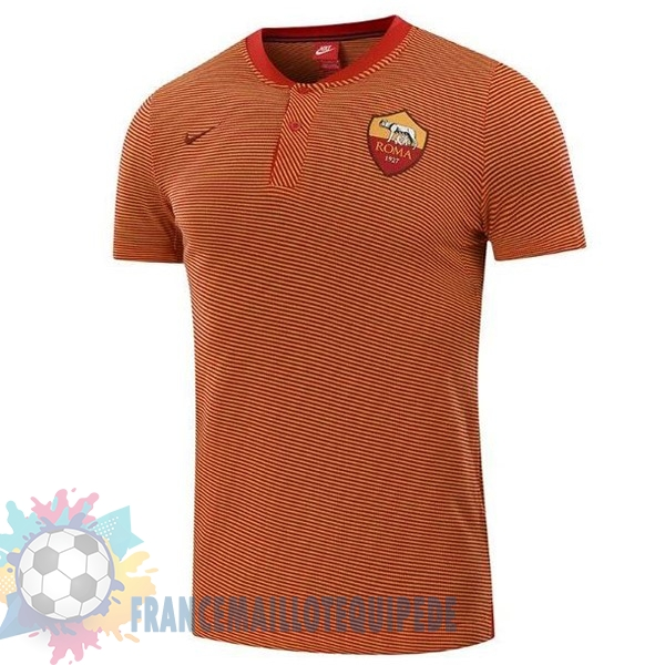 Magasin De Foot Nike Polo AS Roma 2017 2018 Orange Marine