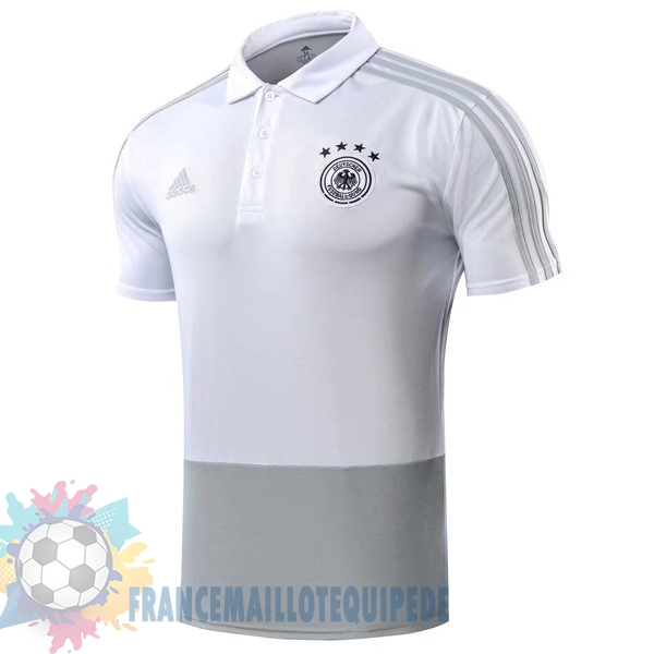 Magasin De Foot adidas Polo Allemagne 2018 Gris Blanc