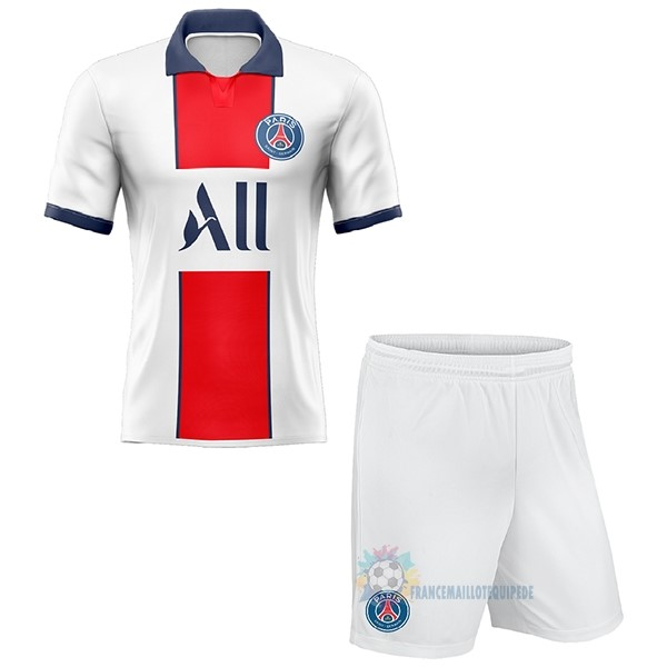 Magasin De Foot Nike Exterieur Conjunto De Enfant Paris Saint Germain 2020 2021 Blanc