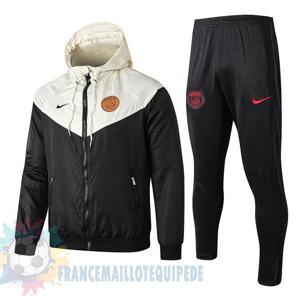 Magasin De Foot Nike Ensemble Coupe Vent Paris Saint Germain 2019 2020 Noir Jaune