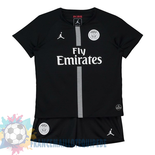 Magasin De Foot JORDAN Third Domicile Ensemble Enfant Paris Saint Germain 2018-2019 Noir
