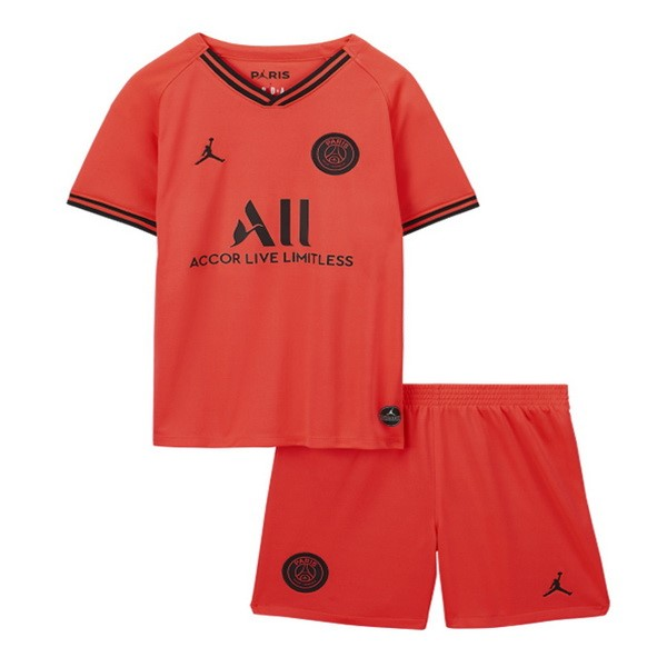 Magasin De Foot JORDAN Exterieur Ensemble Enfant Paris Saint Germain 2019 2020 Orange