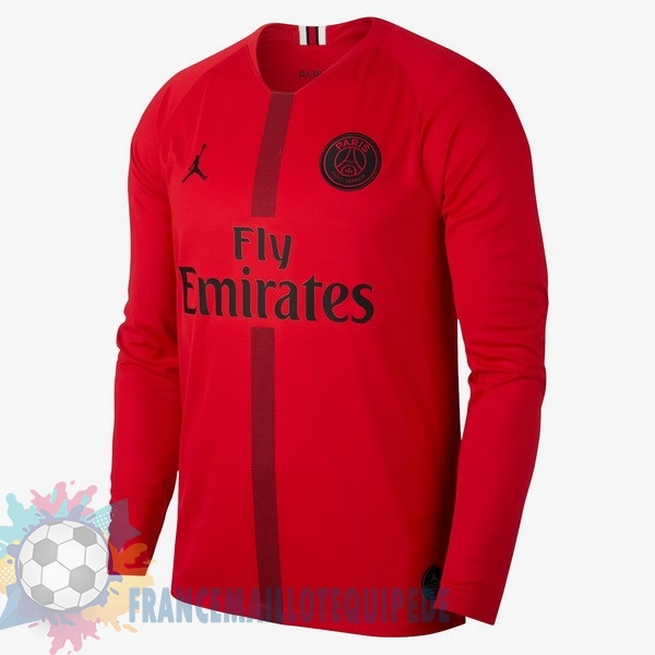 Magasin De Foot JORDAN Maillots Manches Longues Gardien Paris Saint Germain 2018-2019 Rouge