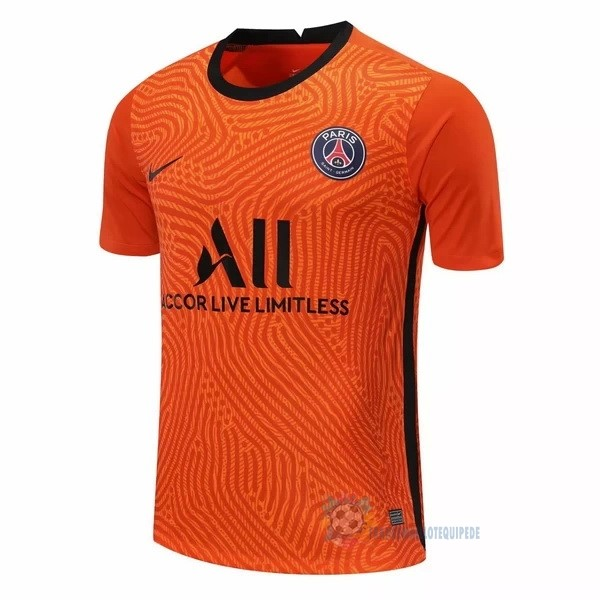 Magasin De Foot Nike Maillot Gardien Paris Saint Germain 2020 2021 Orange