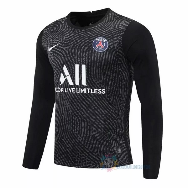 Magasin De Foot Nike Manches Longues Gardien Paris Saint Germain 2020 2021 Noir