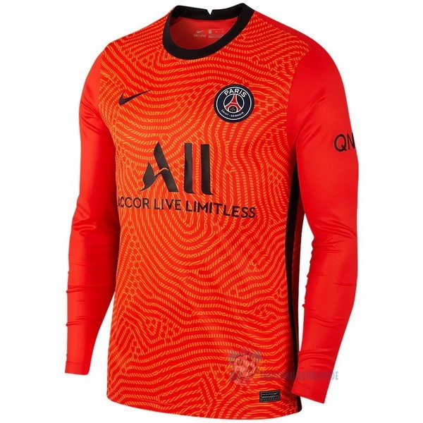 Magasin De Foot Nike Manches Longues Gardien Paris Saint Germain 2020 2021 Orange