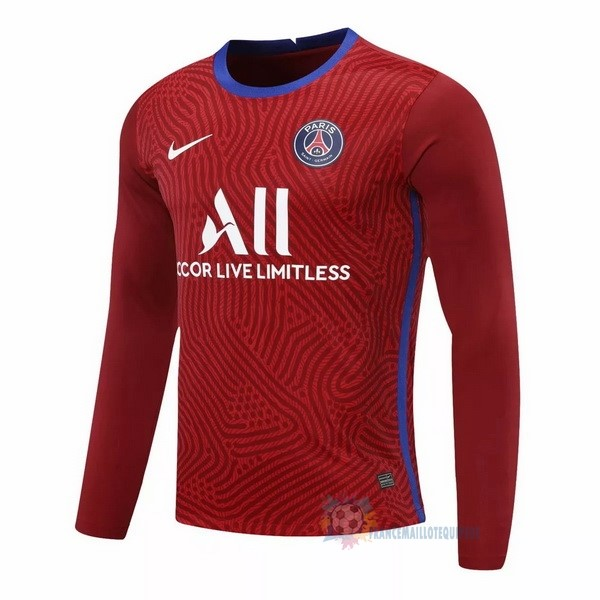 Magasin De Foot Nike Manches Longues Gardien Paris Saint Germain 2020 2021 Rouge