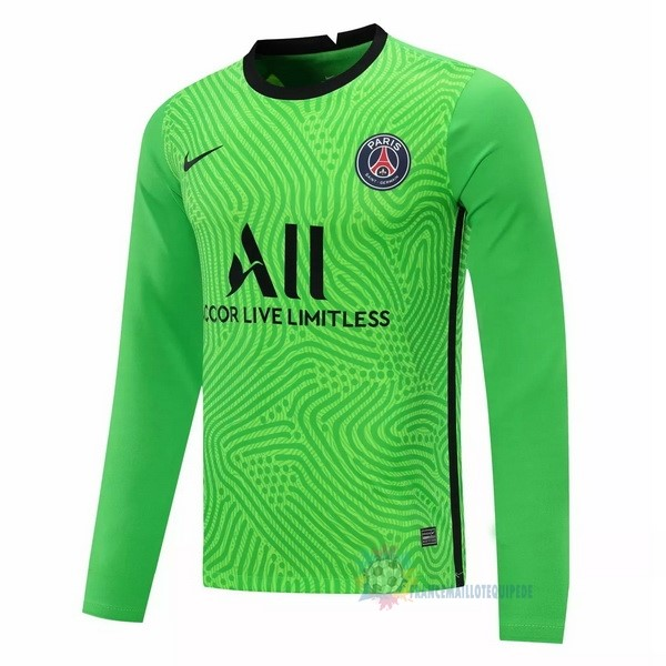 Magasin De Foot Nike Manches Longues Gardien Paris Saint Germain 2020 2021 Vert