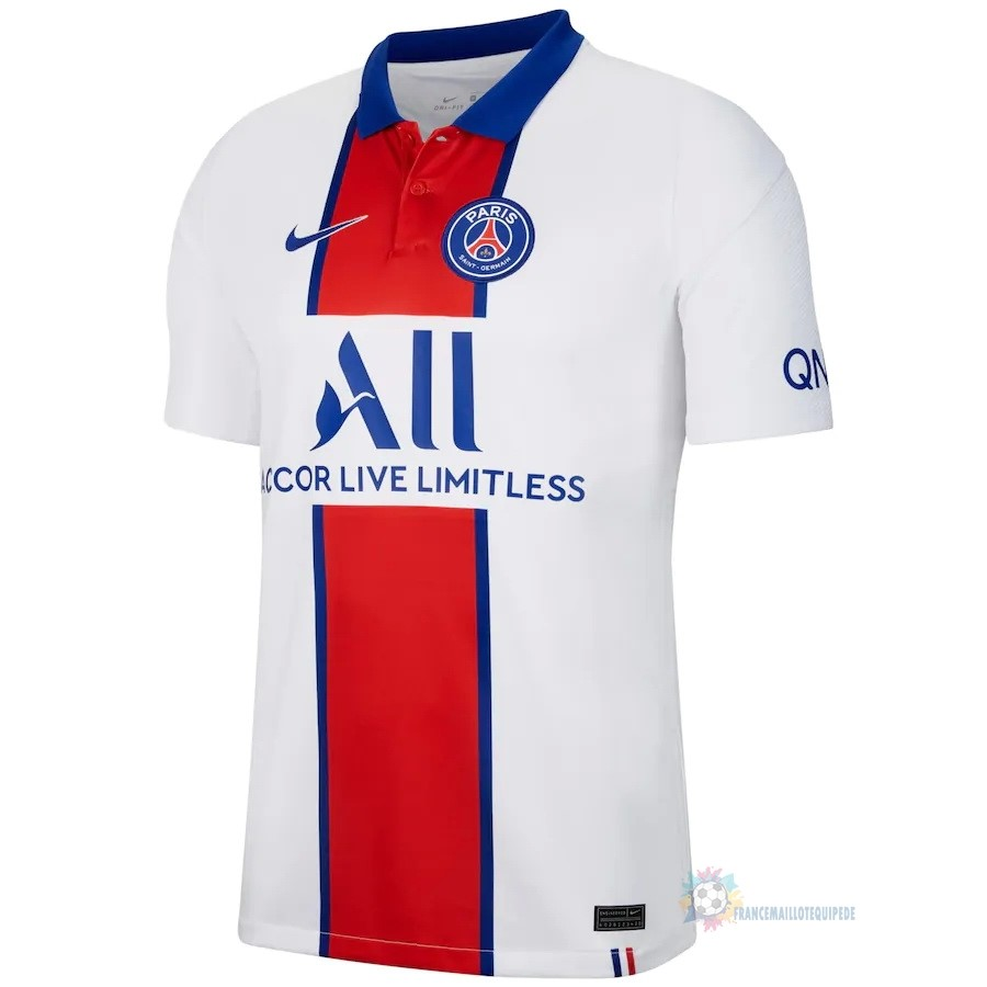 Magasin De Foot Nike Thailande Exterieur Maillot Paris Saint Germain 2020 2021 Blanc