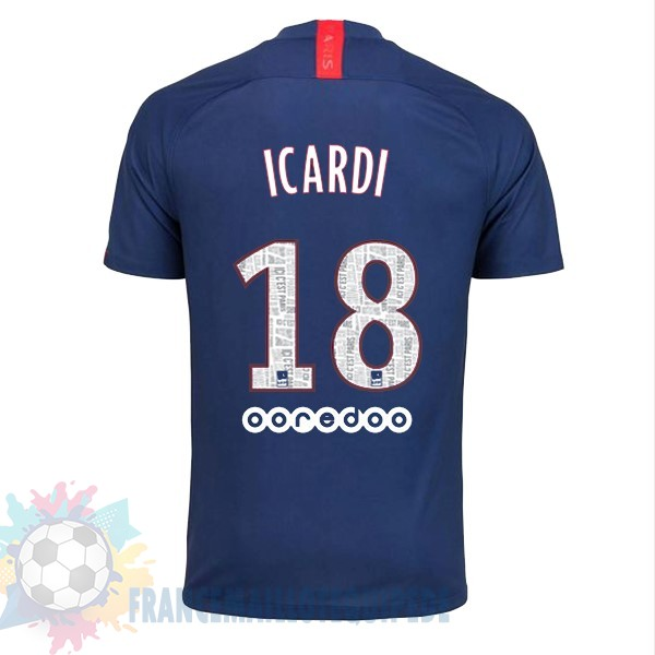 Magasin De Foot Nike NO.18 Icardi Domicile Maillot Paris Saint Germain 2019 2020 Bleu
