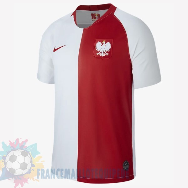 Magasin De Foot Nike Maillot Pologne 100th Blanc Rouge