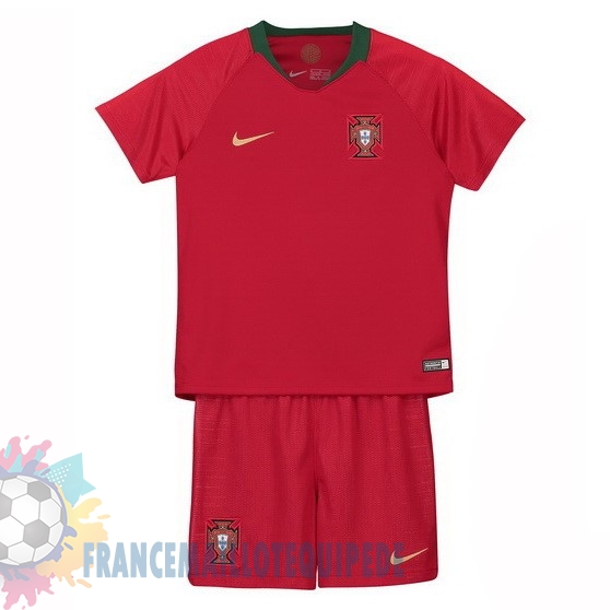 Magasin De Foot Nike Domicile Ensemble Enfant Portugal 2018 Rouge