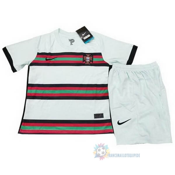 Magasin De Foot Nike Exterieur Ensemble Enfant Portugal 2020 Blanc