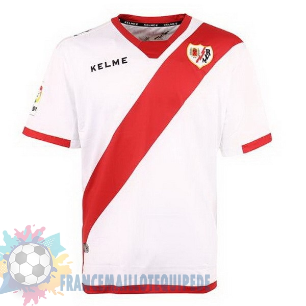 Magasin De Foot Kelme Domicile Maillots Rayo Vallecano de Madrid 2017 2018 Blanc Rouge