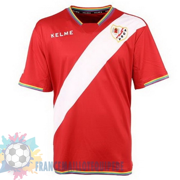 Magasin De Foot Kelme Exterieur Maillots Rayo Vallecano de Madrid 2017 2018 Blanc Rouge