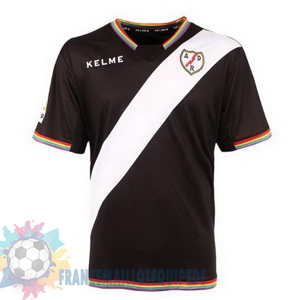 Magasin De Foot Kelme Third Maillots Rayo Vallecano de Madrid 2017 2018 Noir Rouge