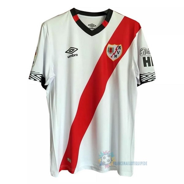 Magasin De Foot umbro Domicile Maillot Rayo Vallecano 2020 2021 Blanc Rouge
