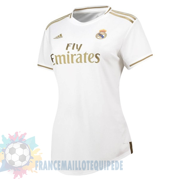 Magasin De Foot adidas Domicile Maillot Femme Real Madrid 2019 2020 Blanc