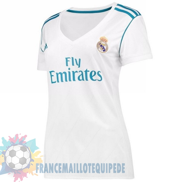 Magasin De Foot adidas Domicile Maillots Femme Real Madrid 2017 2018 Blanc