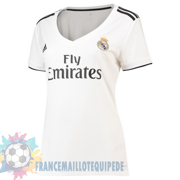 Magasin De Foot adidas Domicile Maillots Femme Real Madrid 2018 2019 Blanc