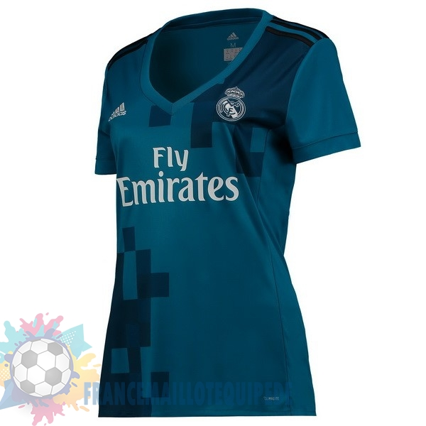Magasin De Foot adidas Third Maillots Femme Real Madrid 2017 2018 Bleu