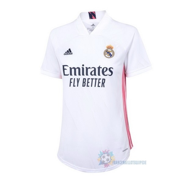 Magasin De Foot adidas Domicile Maillot Femme Real Madrid 2020 2021 Blanc