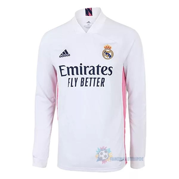 Magasin De Foot adidas Domicile Manches Longues Real Madrid 2020 2021 Blanc