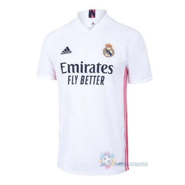 Magasin De Foot adidas Thailande Domicile Maillot Real Madrid 2020 2021 Blanc