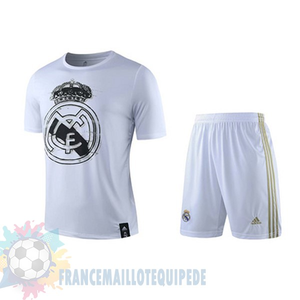 Magasin De Foot Adidas Entrainement Ensemble Real Madrid 2019 2020 Blanc