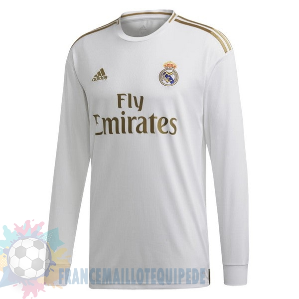 Magasin De Foot adidas Domicile Manches Longues Real Madrid 2019 2020 Blanc