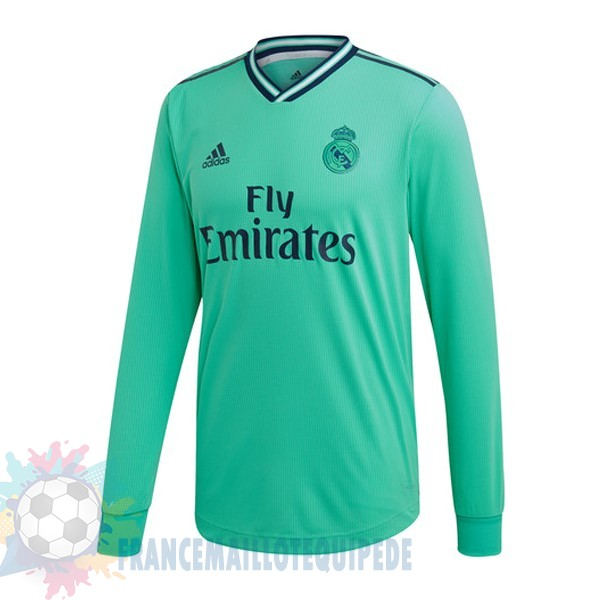 Magasin De Foot adidas Third Manches Longues Real Madrid 2019 2020 Vert