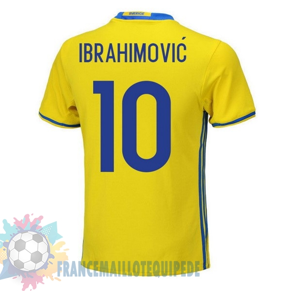 Magasin De Foot adidas NO.10 Ibrahimovic Domicile Maillots Sweden 2018 Jaune