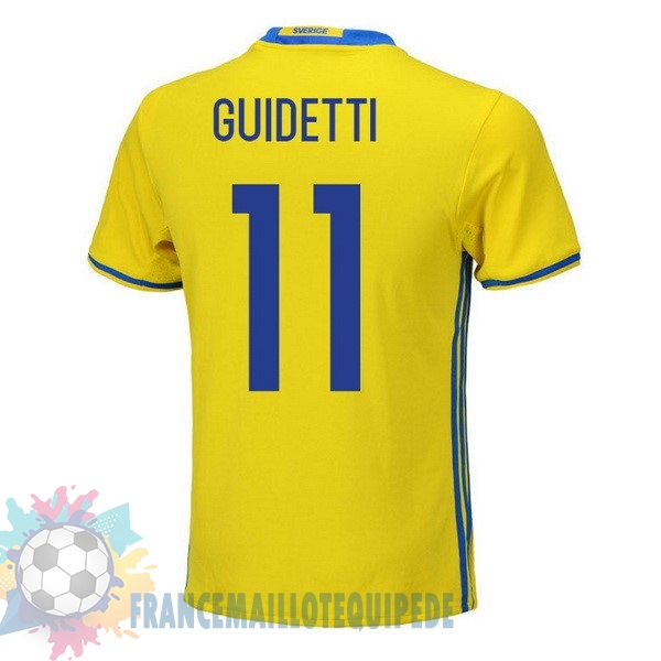 Magasin De Foot adidas NO.11 Guidetti Domicile Maillots Sweden 2018 Jaune