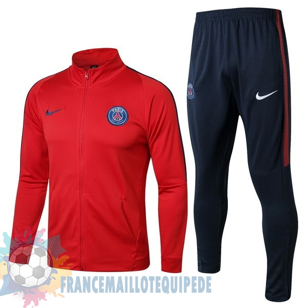 Magasin De Foot Nike Survêtements Paris Saint Germain 2017 2018 Bleu Marine Rouge