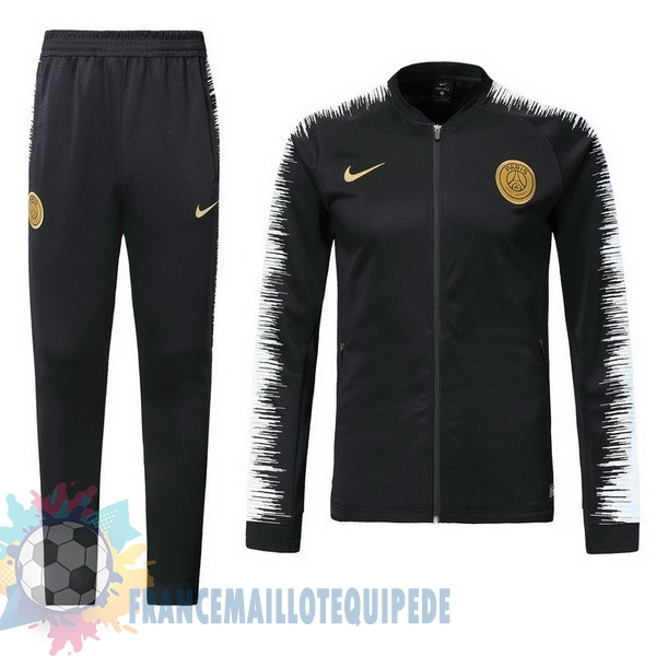 Magasin De Foot Nike Survêtements Paris Saint Germain 2018 2019 Noir Blanc