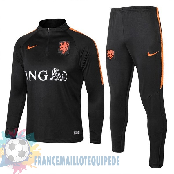 Magasin De Foot Nike Survêtements Pays Bas 2018 Noir Orange