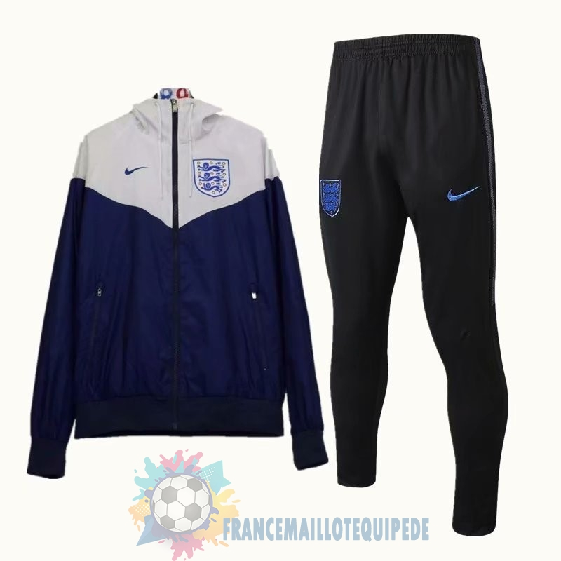 Magasin De Foot Nike Ensemble Coupe Vent Angleterre 2018 Bleu Blanc