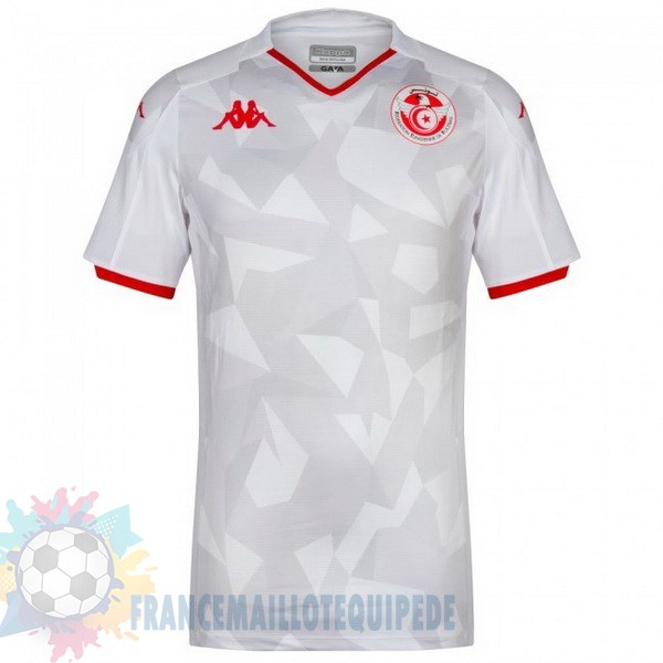 Magasin De Foot Kappa Domicile Maillot Tunisie 2019 Blanc