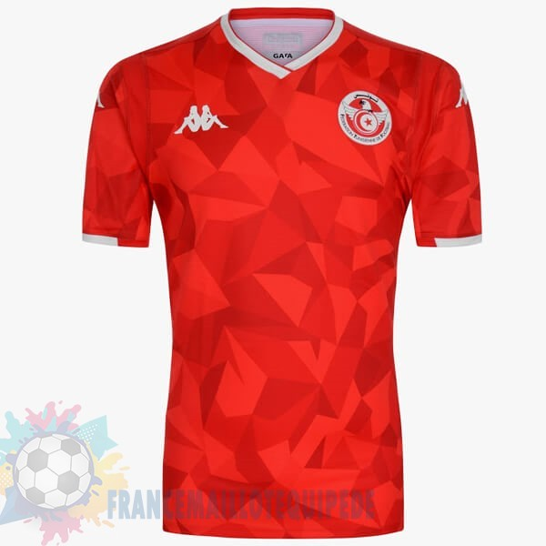 Magasin De Foot Kappa Exterieur Maillot Tunisie 2019 Rouge