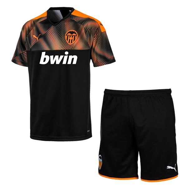Magasin De Foot PUMA Exterieur Ensemble Enfant Valencia 2019 2020 Orange Noir