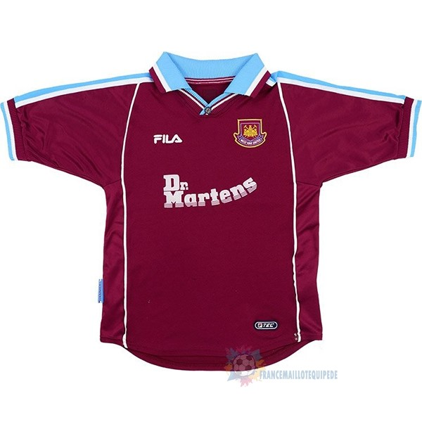Magasin De Foot FILA Domicile Maillot West Ham United Rétro 1999 2000 Rouge