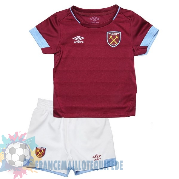 Magasin De Foot umbro Domicile Ensemble Enfant West Ham United 2018-2019 Rouge